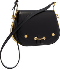 Hermes Black Calf Box Leather Passe Guide Bag with Gold Hardware Very Good to Excellent Condition <