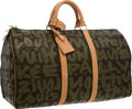 Luxury Accessories:Travel/Trunks, Louis Vuitton 2001 Limited Edition Monogram Graffiti Canvas Keepall50 Weekender Bag by Stephen Sprouse. Excellent Conditi...