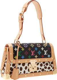 Louis Vuitton Limited Edition Monogram Multicolore & Dalmatian Sac Rabat Bag by Takashi Murakami Excellent Cond