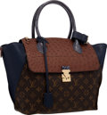 Luxury Accessories:Bags, Louis Vuitton Brown Ostrich, Blue Python & Classic MonogramCanvas Majestueux PM Tote Bag . Excellent to PristineConditio...