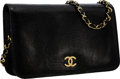 "Luxury Accessories:Bags, Chanel Black Lizard Flap Bag with Gold Hardware . Very Good toExcellent Condition . 9.5"" Width x 5.5"" Height x 1.5""D..."