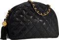 """Luxury Accessories:Bags, Chanel Black Lizard Half Moon Bag with Gold Hardware . Very GoodCondition. 9.5"""" Width x 6.5"""" Height x 2.5"""" Depth. ..."""