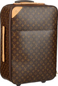 "Luxury Accessories:Travel/Trunks, Louis Vuitton Classic Monogram Canvas Pegase 45 Suitcase . VeryGood Condition . 14.5"" Width x 21"" Height x 7"" Depth ..."