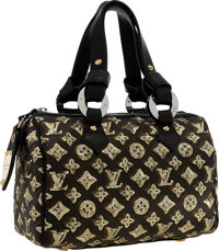 Louis Vuitton Limited Edition Sequin & Classic Monogram Canvas Eclipse Speedy 30 Bag Very Good to Excellent Con
