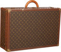 "Luxury Accessories:Travel/Trunks, Louis Vuitton Classic Monogram Canvas Alzer 65 Hardsided Trunk .Very Good Condition . 25.5"" Width x 17"" Height x8.5""..."