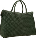 "Luxury Accessories:Bags, Bottega Veneta Green Quilted Leather Tote Bag with GunmetalHardware . Very Good to Excellent Condition . 14"" Width x..."
