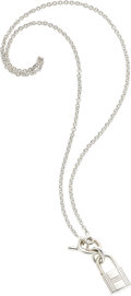 "Luxury Accessories:Accessories, Hermes Sterling Silver Kelly Cadena Necklace . ExcellentCondition . 15"" Length . ..."