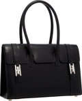 """Luxury Accessories:Bags, Hermes 26cm Black Calf Box Leather Drag Bag with Palladium Hardware. Excellent Condition. 10"""" Width x 8"""" Height x 4"""" D..."""