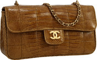 Chanel Brown Lizard Mini Flap Bag with Brushed Gold Hardware Excellent to Pristine Condition 7