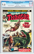 Bronze Age (1970-1979):Horror, Creatures on the Loose #26 Thongor (Marvel, 1973) CGC NM/MT 9.8White pages....