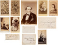 Photography:CDVs, [John Wilkes Booth]: Girlfriends and Colleagues. ... (Total: 12 Items)