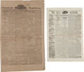 Political:Miscellaneous Political, Abraham Lincoln: Extensive Newspaper Collection....