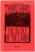 Books:Mystery & Detective Fiction, Thomas Harris. UNCORRECTED PROOF. The Silence of the Lambs.New York: St. Martin's Press, [1988]. First edition. ...