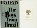Books:Horror & Supernatural, Ira Levin. INSCRIBED. The Boys from Brazil. New York: Random House, [1976]. First edition. Inscribed by the author...