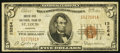 National Bank Notes:Missouri, Saint Louis, MO - $5 1929 Ty. 1 South Side NB Ch. # 13264. ...