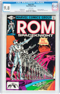 Modern Age (1980-Present):Science Fiction, Rom #13 (Marvel, 1980) CGC NM/MT 9.8 White pages....