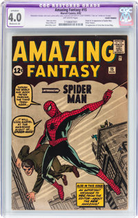 Amazing Fantasy #15 (Marvel, 1962) CGC Apparent VG 4.0 Moderate (A) Off-white pages