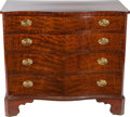 Furniture , A GEORGE III MAHOGANY SERPENTINE CHEST OF DRAWERS, circa 1820. 35 x 39-1/2 x 21-1/2 inches (88.9 x 100.3 x 54.6 cm). PROPE...