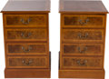 Furniture , A PAIR OF AMERICAN BURL WALNUT AND MAHOGANY FILING CABINETS, circa 1990. 32 x 21 x 23 inches (81.3 x 53.3 x 58.4 cm). PROP... (Total: 2 Items)