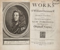 Books:Literature Pre-1900, Sir William D'Avenant (Davenant). The Works... London:T[homas] N[ewcomb]for Henry Herringman, 1673. First Colle...