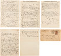 Political:Small Paper (pre-1896), Louis J. Weichmann: Letters from a Key Witness in the AssassinationPlot. ...
