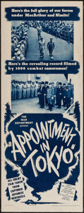 """Movie Posters:War, Appointment in Tokyo (Warner Brothers, 1945). Insert (14"""" X 36"""").War.. ..."""