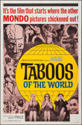 """Movie Posters:Documentary, Taboos of the World (American International, 1963). One Sheet (27"""" X 41""""), Lobby Card Set of 8 (11"""" X 14""""). Documentary.. ... (Total: 9 Items)"""