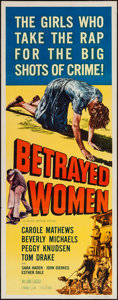 "Movie Posters:Crime, Betrayed Women & Others Lot (Allied Artists, 1955). Inserts (3)(14"" X 36""). Crime.. ... (Total: 3 Items)"