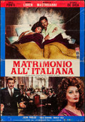 "Movie Posters:Foreign, Marriage Italian-Style (Embassy, 1964). Large Italian Photobusta (26.25"" X 38""). Foreign.. ..."