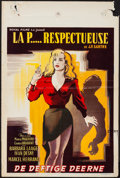 """Movie Posters:Foreign, The Respectful Prostitute (Royal Films, 1952). French Petite (14.5"""" X 20.5""""). Foreign.. ..."""