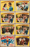 "Movie Posters:Sports, Knockout (Warner Brothers, 1941). Title Lobby Card & Lobby Cards (7) (11"" X 14""). Sports.. ... (Total: 8 Items)"