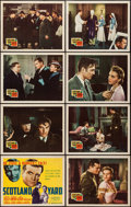 "Movie Posters:Crime, Scotland Yard (20th Century Fox, 1941). Lobby Card Set of 8 (11"" X14""). Crime.. ... (Total: 8 Items)"