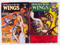 Pulps:Adventure, Wings Group (Fiction House, 1949) Condition: Average FN.... (Total: 2 Items)