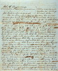 Books:Americana & American History, [Petition to Sell Slaves]. [Manuscript Document]. [State ofTennessee]. Petition to sell slaves per the provisions in theWill...