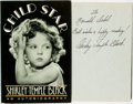 Books:Biography & Memoir, Shirley Temple Black. INSCRIBED. Child Star. An Autobiography. New York: McGraw-Hill, [1988]. First edition. Inscr...