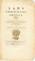 Books:Americana & American History, Laws of the United States of America. Containing theFederal Constitution...Boston: Adams and Larkin, 1795. Volumeo...