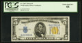 Small Size:World War II Emergency Notes, Fr. 2307 $5 1934A North Africa Silver Certificate. PCGS Choice About New 55.. ...