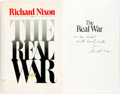Books:Americana & American History, Richard Nixon. INSCRIBED. The Real War. [New York]: WarnerBooks, [1980]. Later printing. Inscribed by the author....