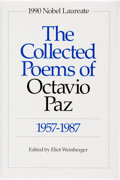 Books:Literature 1900-up, [Octavio Paz]. Eliot Weinberger, editor. SIGNED. The Collected Poems of Octavio Paz 1957-1987. New Directions, [1991...