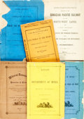 Books:Americana & American History, [Mines] Group of Six Publications on Mining. Various publishers anddates. Original wrappers. One lacking wrappers, one with... (Total:6 Items)