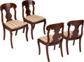 Political:Presidential Relics, [Abraham Lincoln]: Set of Four Edwards Family Side Chairs, Possibly Used by Lincoln. ... (Total: 4 Items)