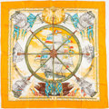 "Luxury Accessories:Accessories, Hermes 90cm Orange ""Vive le Vent,"" by Laurence Thioune Silk Scarf...."