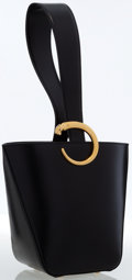 Luxury Accessories:Bags, Cartier Black Leather Panthere Bucket Bag. ...