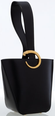 Cartier Black Leather Panthere Bucket Bag