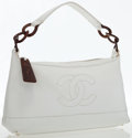 Luxury Accessories:Bags, Chanel White Caviar Leather Sac Divers Hobo Bag. ...