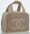 Luxury Accessories:Bags, Chanel Beige Caviar Leather Perforated Bowling Bag. ...