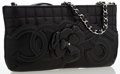 Luxury Accessories:Bags, Chanel Black Quilted Lambskin Leather Camellia No. 5 Sac PochetteBag. ...