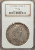 Mexico, Mexico: Pair of Certified 8 Reales 1821 1875,... (Total: 2 coins)