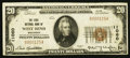 National Bank Notes:Wisconsin, West Bend, WI - $20 1929 Ty. 1 The First NB Ch. # 11060. ...