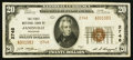 National Bank Notes:Wisconsin, Janesville, WI - $20 1929 Ty. 2 The First NB Ch. # 2748. ...